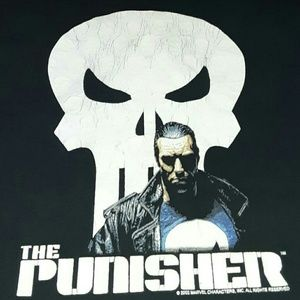 2002 The Punisher Marvel Comics Shirt Vintage Rock